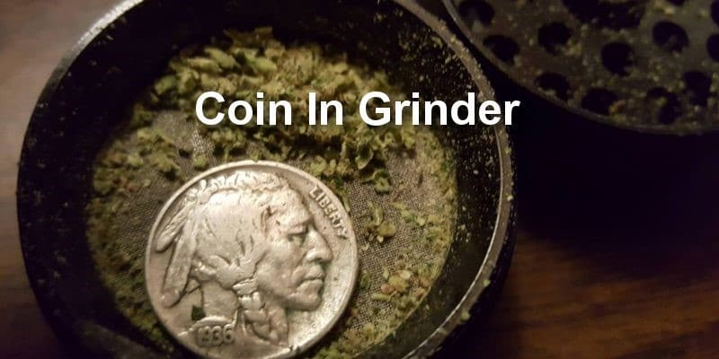 Coin in Grinder